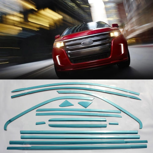 Savanini 16pcs T304 Stainless Steel Window Molding Sill Trim Decoration For Ford Edge ...
