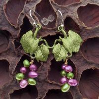 Vintage Vintage Natural Porcelain Retro Style Antique Earrings Women S Earrings For Women Factory Price Wholesale