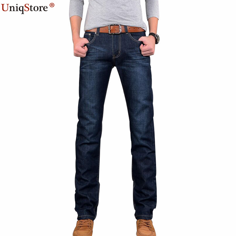 Uniqstore 2018 New Denim Four Seasons Mens Jeans Full Length Straight Soft Comfort Casua ...