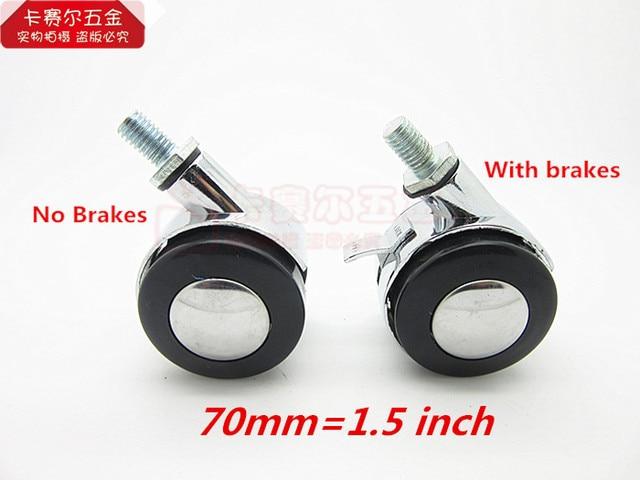 70mm Muebles rueda giratoria rosca M8 Ruedas reemplazo abastece ...