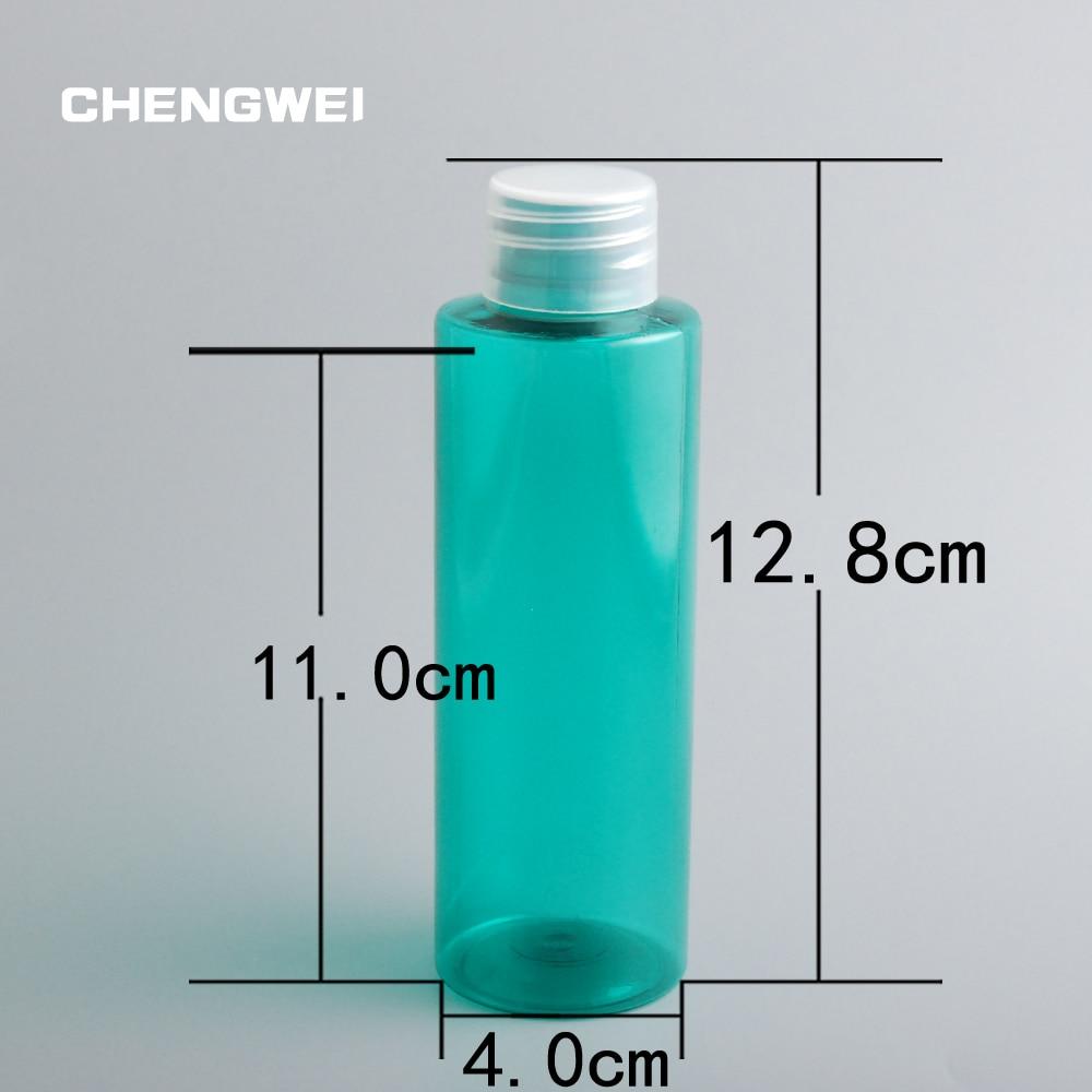 CHENGWEI PET Plastic Screw Cap Refillable Bottles 120ml Cosmetic