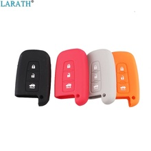LARATH Silicone Case 3 Buttons Car Styling Cover For HYUNDAI Solaris HB20 Veloster SR IX35 Accent Elantra i30 Smart Remote key