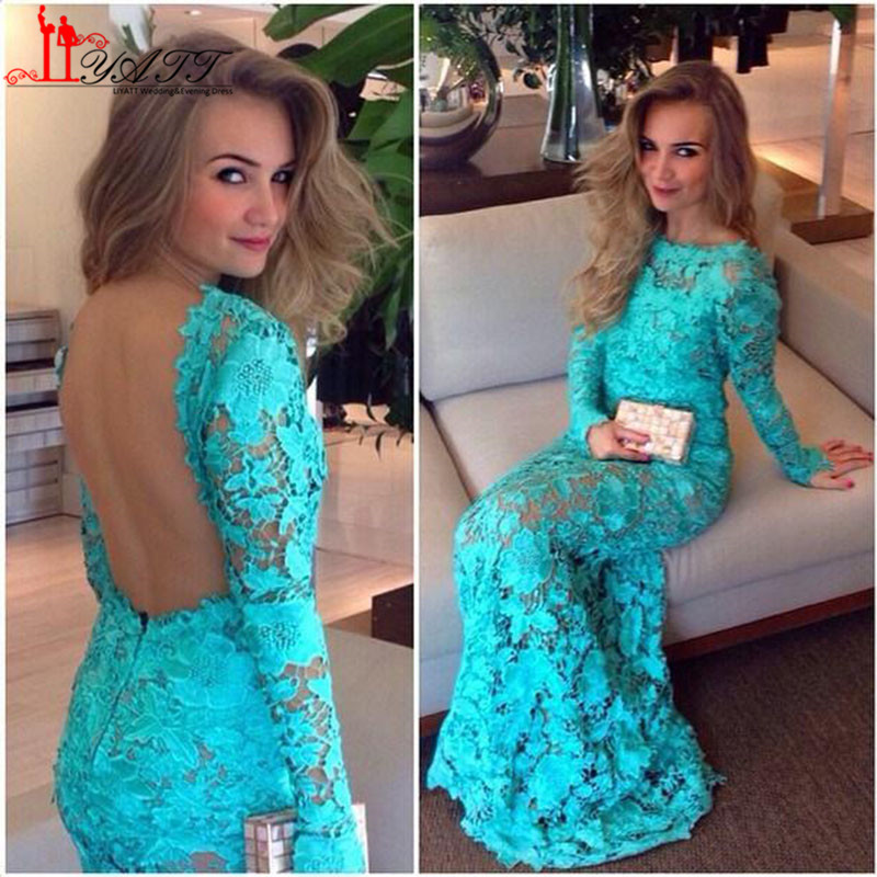 Popular Long Sleeve Turquoise Lace Dress-Buy Cheap Long Sleeve ...