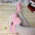 LIN REY Encantadora Dulce de Lolita Zapatos de Cosplay Lindo Fresa Seashell Lace Up Zapatos de Plataforma Punta Redonda Zapatos de Las Mujeres Ocasionales
