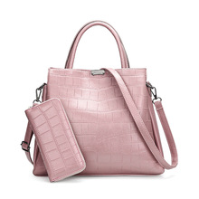 Роскошные новые моды крокодиловой кожи женщин сумки Большая емкость композитных наплечных сумочек Кошелек сумка Messenger