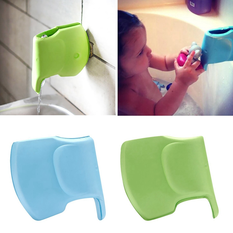 Bath Sprinkler Faucet Cover For Baby Safety Bath Faucet Extended Protective Film For Baby Elephant Shape