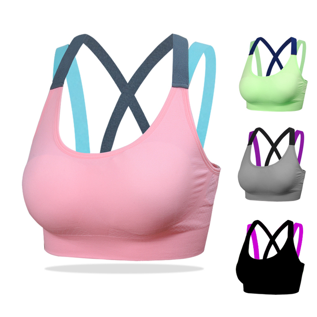 Yoga Bras Push Up Sports Bra Gym Running Padded Bras Athletic Vest Sportswear
