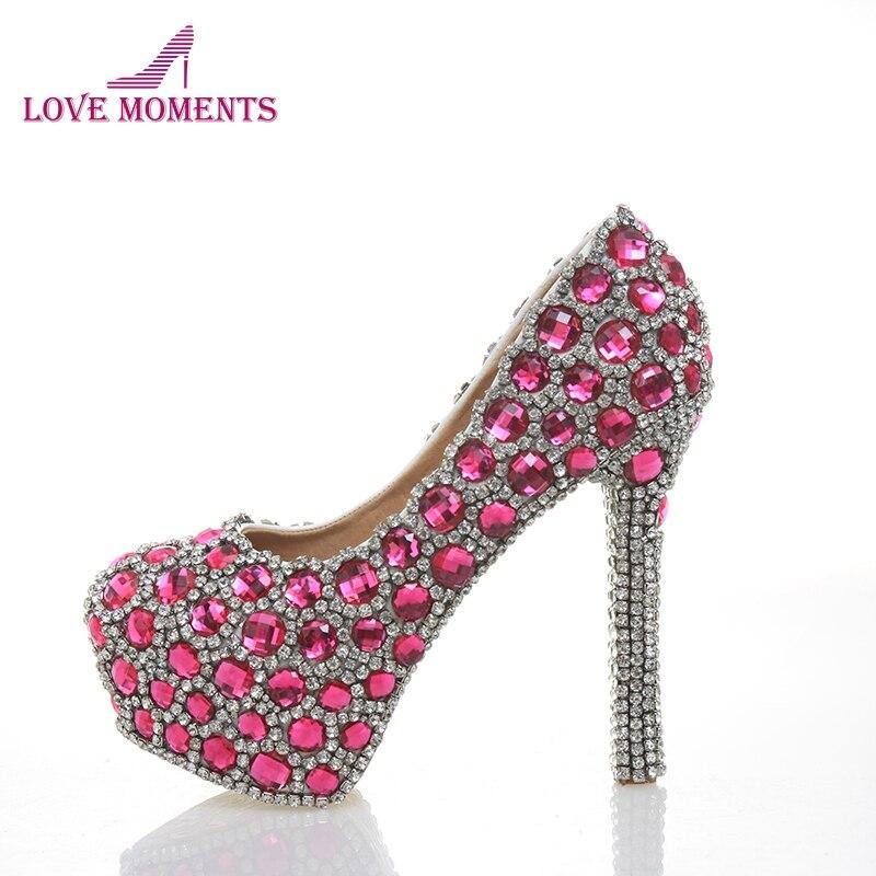 Pink Heels For Wedding: Fashion Women Pumps Luxury Handmade Leather Wedding Shoes