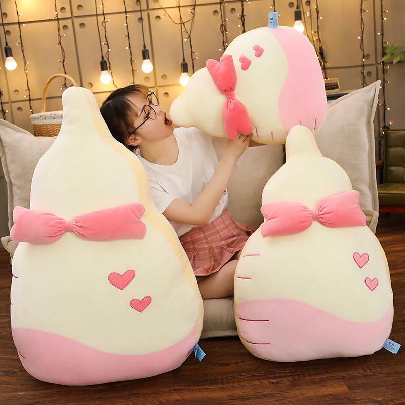 Hot New 1pc 50cm 70CM Kawaii Bottle Milk Pillow Plush Toy Soft And Comfortable For Children As A Birthday Present in Stuffed Plush Animals from Toys Hobbies