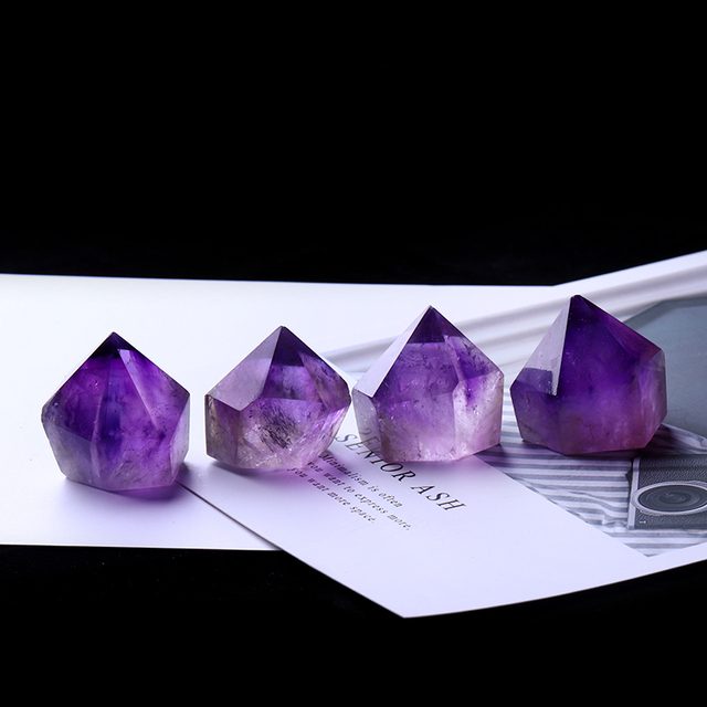1PC Natural Amethyst Wand Quartz Crystal Repair Crystal Stone accessories Home Decor 3