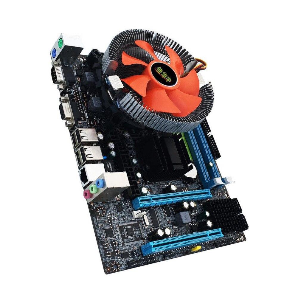 G31 Desktop PC Main Board LGA 775 Dual-core E5700 Combo Set 3.0G CPU + 2G DDR2 Memory Mute Fan Computer Motherboard g31 desktop pc main board lga 775 dual core e5700 combo set 3 0g cpu 2g ddr2 memory mute fan computer motherboard