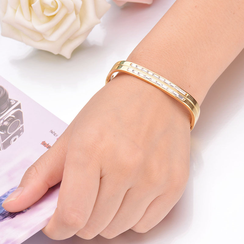 Famous Brand Charms Open Cuff H Letter Stainless Steel Bracelets For Women Mother Daily Jewelry Gift Drop Ship Bracelets & Bangles Bangles