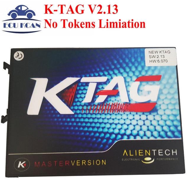 Newest K-TAG KTAG V2.13 Firmware 6.070 No Tokens Limiation K TAG ECU Programming ECU Chip Tunning KTAG 6.070 Free Shipping