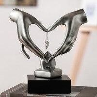 Hand Heart Shaped Figurines Crystal Art Sculpture Handicrafts Resin Art&Craft Home Decoration Accessories Birthday Gift R798