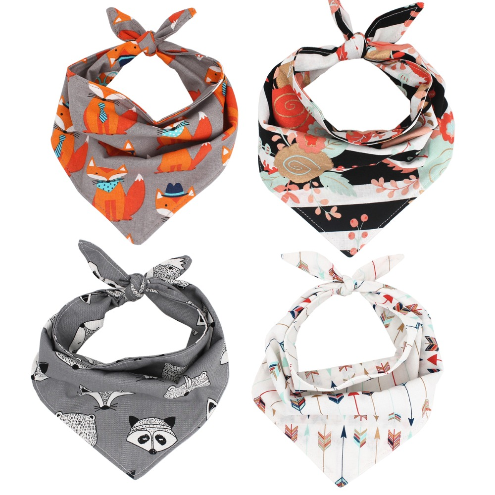 Dog Bandana Reversible Bandana Tie on Bandana Dog Scarf Pet Dog Accessory for Gifts