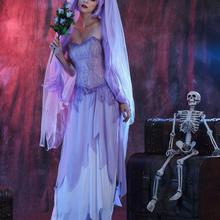 Хэллоуин вечерние Труп невесты страшный Косплэй костюм платье маска костюмы
