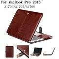 Новый ИСКУССТВЕННАЯ кожа чехол для 2016 Macbook Pro 13 15 Air 11.6 ноутбук Случаях shell сумка Для Mac book A1706/A1708/A1707, SKU 0132LE