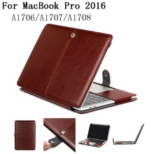 New PU leather shell case for 2016 Macbook Pro 13 15 Air 11.6 laptop Cases shell bag For Mac book A1706/A1708/A1707,SKU 0132LE