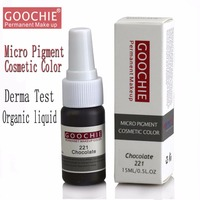 Goochie Original Permanent Makeup Eyebrow pure organic liquid pigment ink, 1/2Oz (15ml) for eyebrow PMU