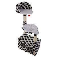47 Stable Cute Cat Tree Tower Black Dot Cats Climbing Frame SKU36656729