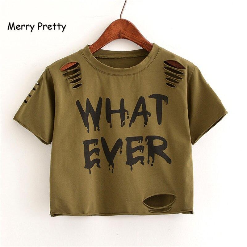 FROHE ZIEMLICH Neue t Shirt Frauen Crop Tops Harajuk Crew Neck Kurzarm WAS IMMER gedruckt T-Shirts Sexy Sommer Top für Mädchen
