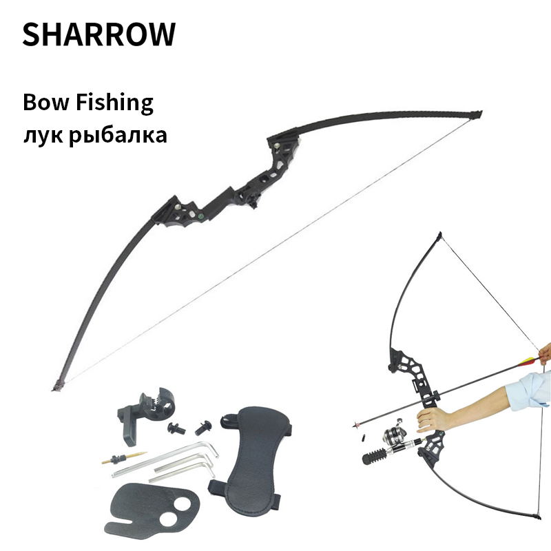 цена на 51 inch Archery Hunting Bow Right Hand 40lbs Fishing Bow CNC Alloy Riser Arcehry Hunting Straight Long Bow Outdoor Shooting fish