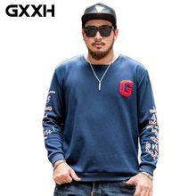 Gxxh marca sudaderas ropa casual grande gran tamaño xxl-7xl caliente con  pelusa crewneck sudaderas hip hop Tops 22b1af88d34