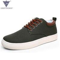 WEST SCARP Men Shoes For Spring Summer Men Casual Canvas Shoes Low Top 3 8 Cm