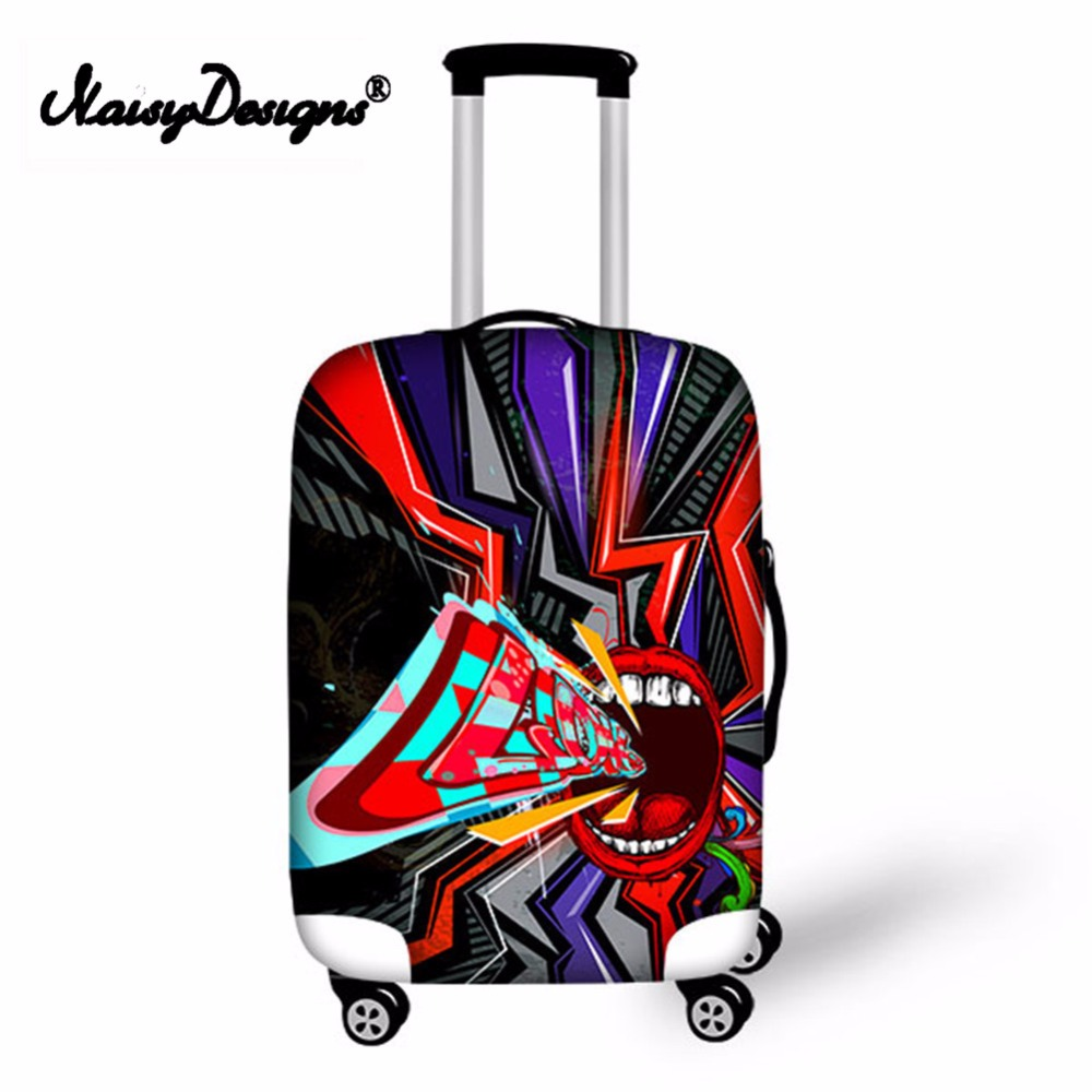 Noisydesigns Fashion Funny Scream Pattern Elastic Fashion New Protective Anti-scratch Cover Dust-proof Luggage Cover For S/M/L
