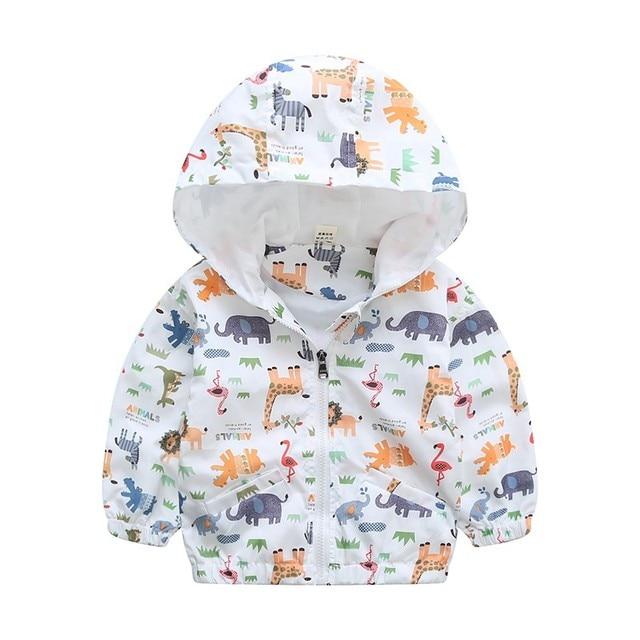Hooded Animal Patterned Autumn Coat 4