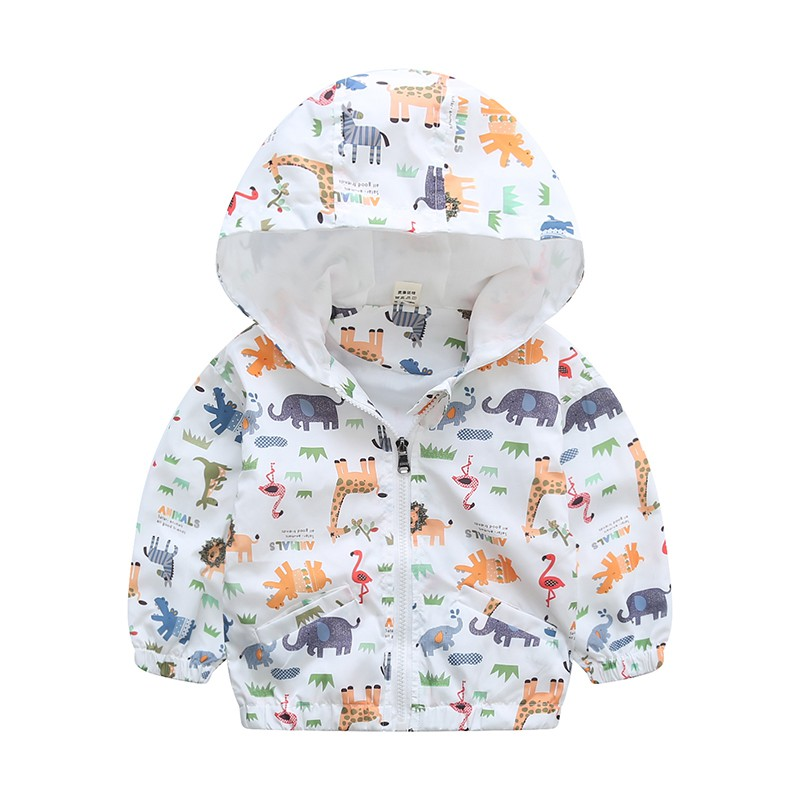 80-120 см милый динозавр Весна Детское пальто Осенняя Детская куртка Верхняя одежда для мальчиков; пальто для активных мальчиков ветровка дет...