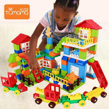 Tumama DIY Building Block 76pcs/set Big Particle Bricks Toys For Kids Educational Hobby Model Toys - SALE ITEM Toys & Hobbies