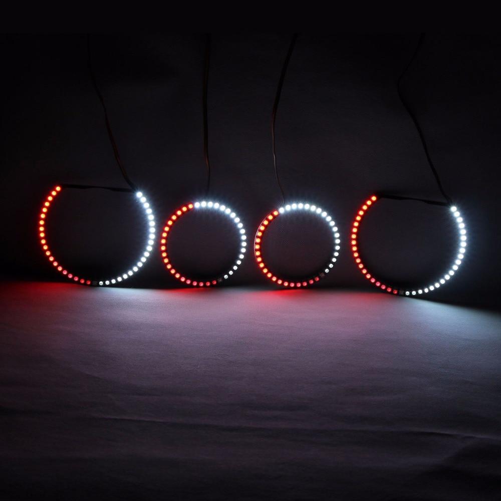 RGBW Angel Eyes Revolving Lights DRL LED Rolling Light Multi-Color - Ավտոմեքենայի լույսեր - Լուսանկար 4