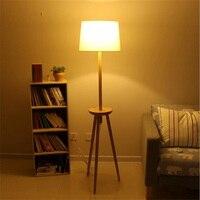 Nordic Solid Wood Floor Lamp Room Bedroom Bedside Floor Lamps In Simple Style Hotel Room Restaurant