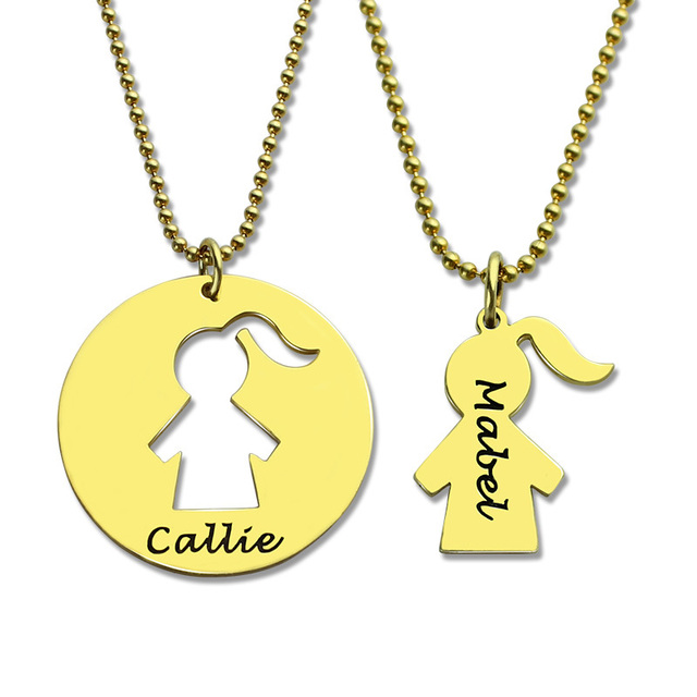 Personalized mother daughter name necklace set engraved bff mother personalized mother daughter name necklace set engraved bff mother necklace silver mom daughter pendant lovely mother aloadofball Images