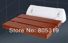 Твердой древесины сиденье для душа откидное spacing saving настенный морден сиденья