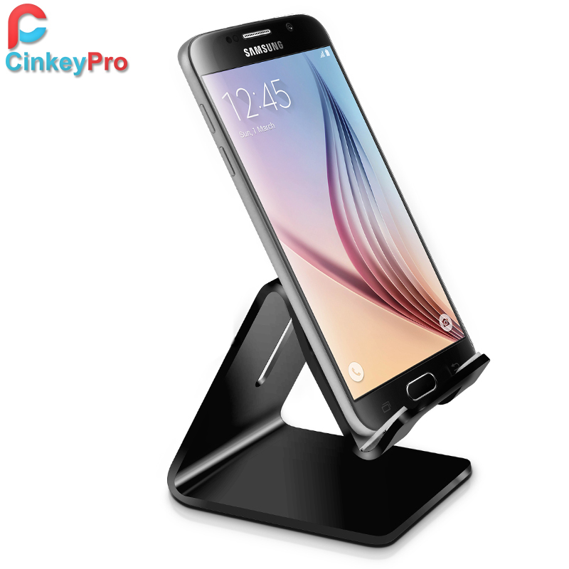 CinkeyPro Mobile Phone Holder Tablet Stand Aluminum High Quality Design for iPhone iPad Samsung Support