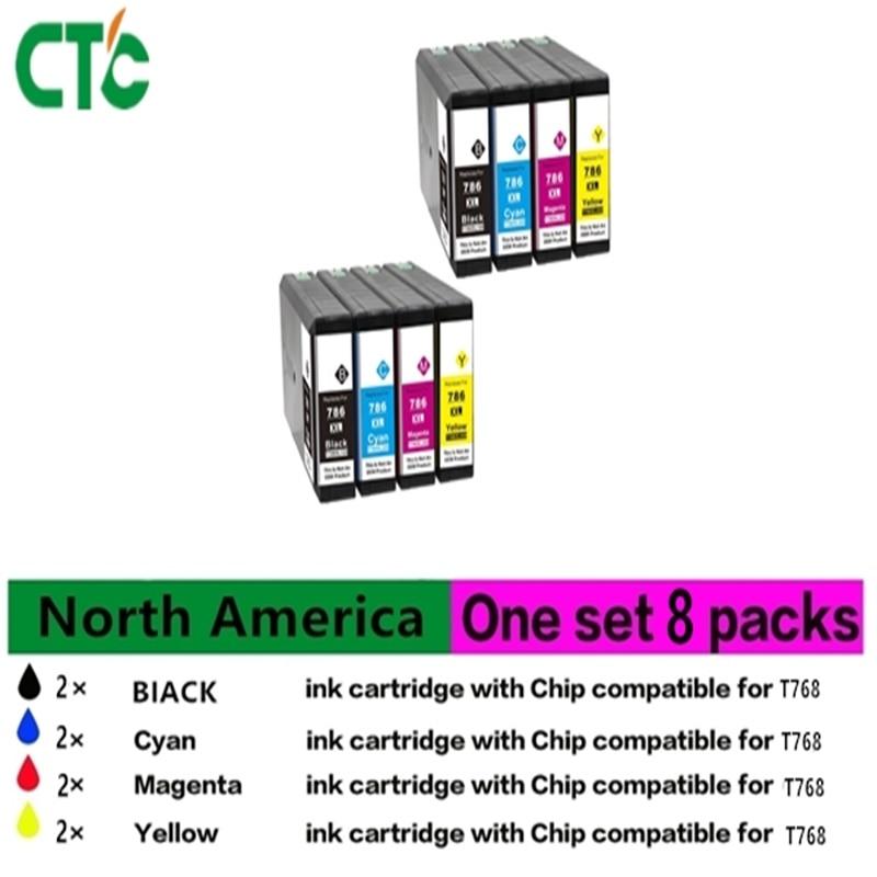 8 PK Compatible ink cartridge Epsonfor Epson WorkForce Pro WF-4630 5190 5620 5690 2018 new [hisaint] 10 pk 220 t220 xl ink cartridges for epson xp 320 420 workforce 2630 2650 2660