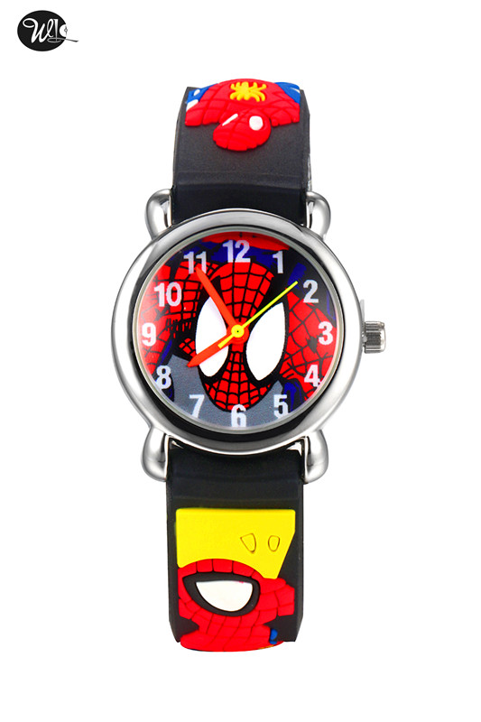 Children's Watch Nylon Bracelet Spider-Man Children's Clock Gift Clock Night Light Simulation Quartz Bracelet Watch