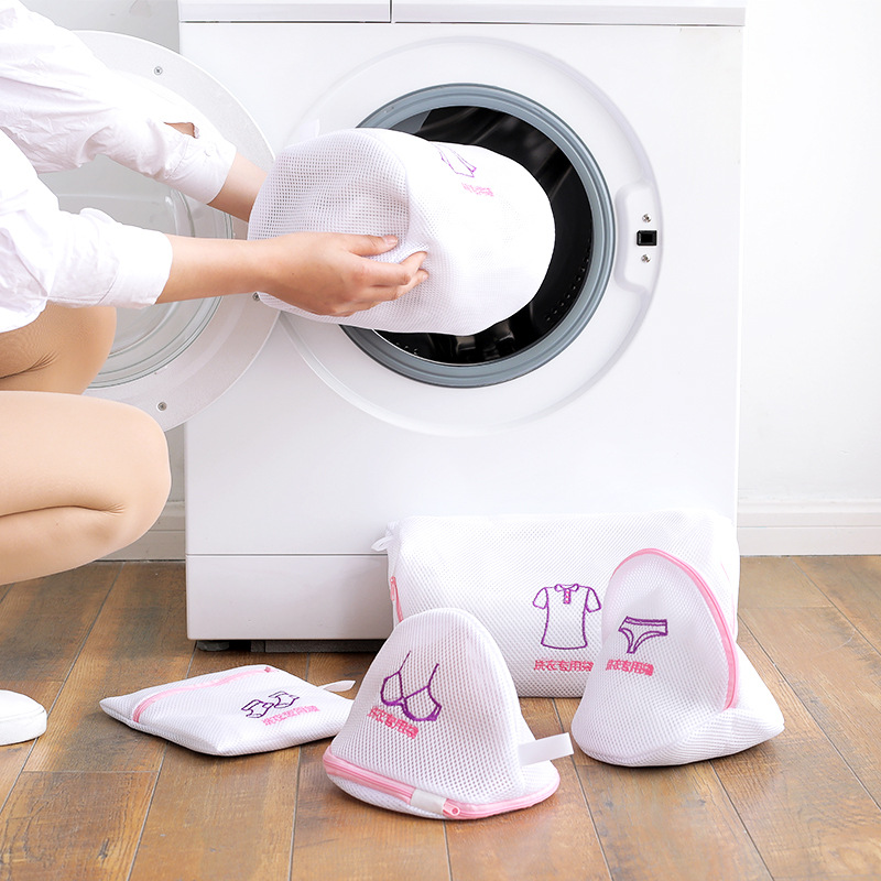 Luluhut Laundry Washing Bag Portable Bra Underwear Sock Shirt Clothing Wash Protecting Mesh Bag Thicken Washing Machine Net Bag