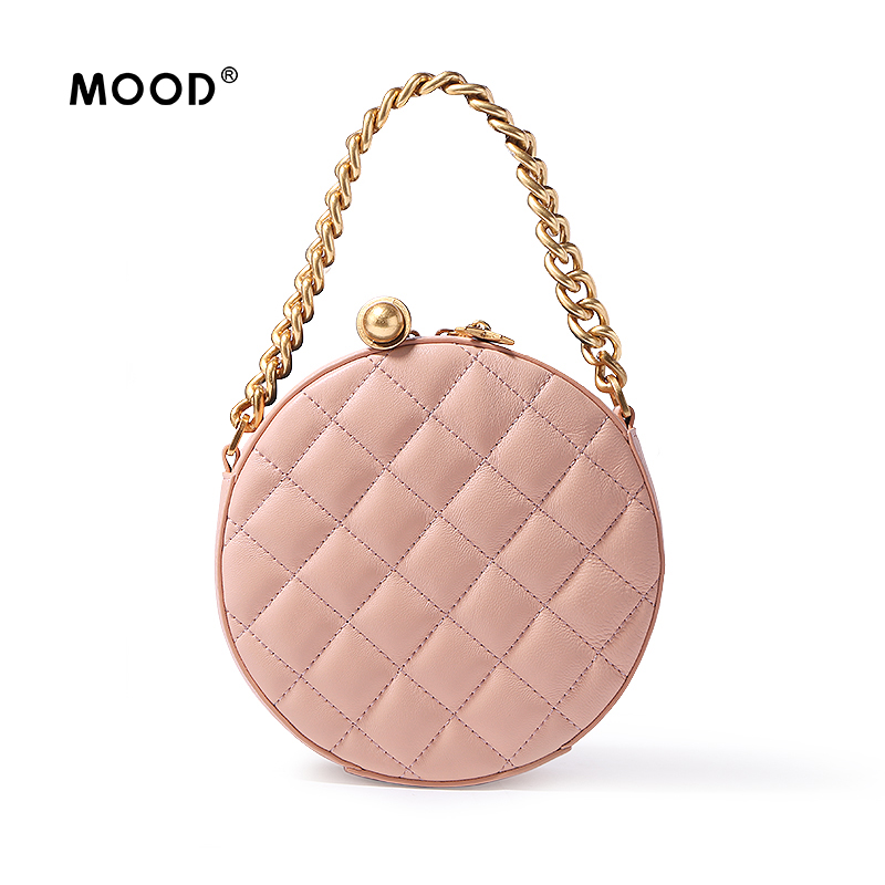 MOOD bags for women 2018 Sheepskin material small round sweet wind fashionable joker banquet mini handbag one shoulder bag