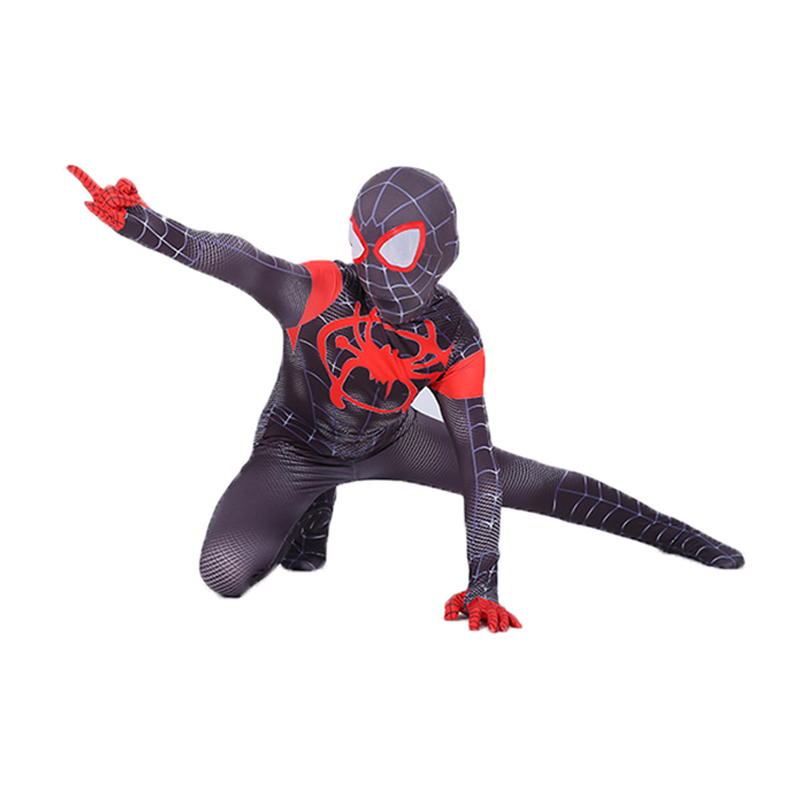 Miles Morales Costume for Kids Spiderman Costume Kids Spider Man Cosplay Costumes Boys Spiderman Into The Spider Verse Bodysuit