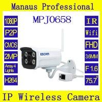 2 0 Megapixel Full HD Network Mini Wifi IR Bullet Camera ESCAM Brick QD900 WIFI Cctv