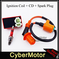 Racing Ignition Coil 6 Pins AC CDI Box Spark Plug A7TC Fit Chinese GY6 50cc 125cc 150 cc Engine Moped Scooter