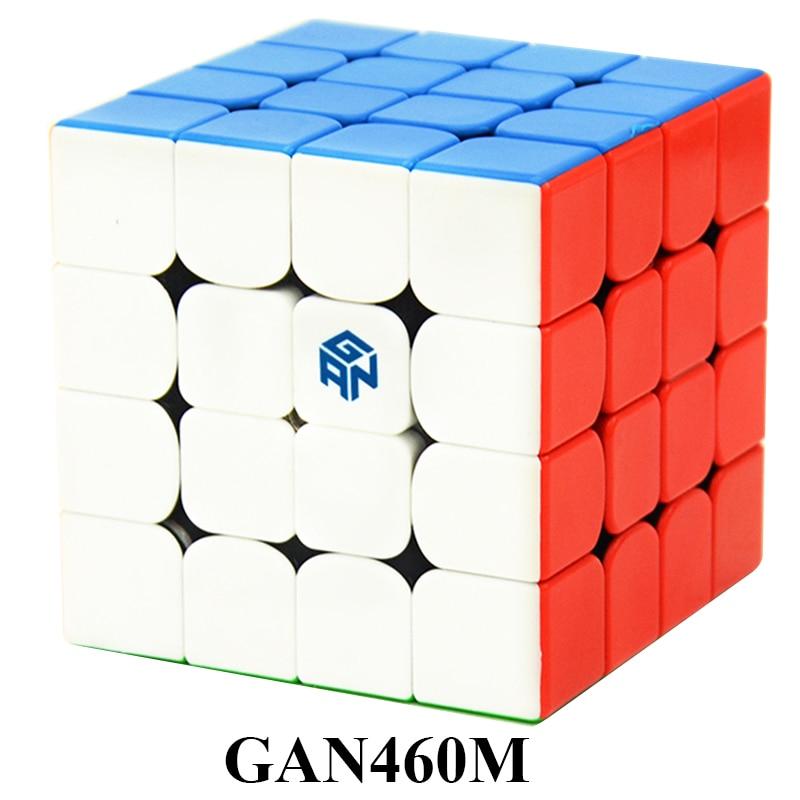GAN460 M 4*4*4 Магнитная Professional speed Magic Cube GAN 460 Обучающие 4x4x4 игрушки-головоломки для детей Обучающие Cubo магические игрушки