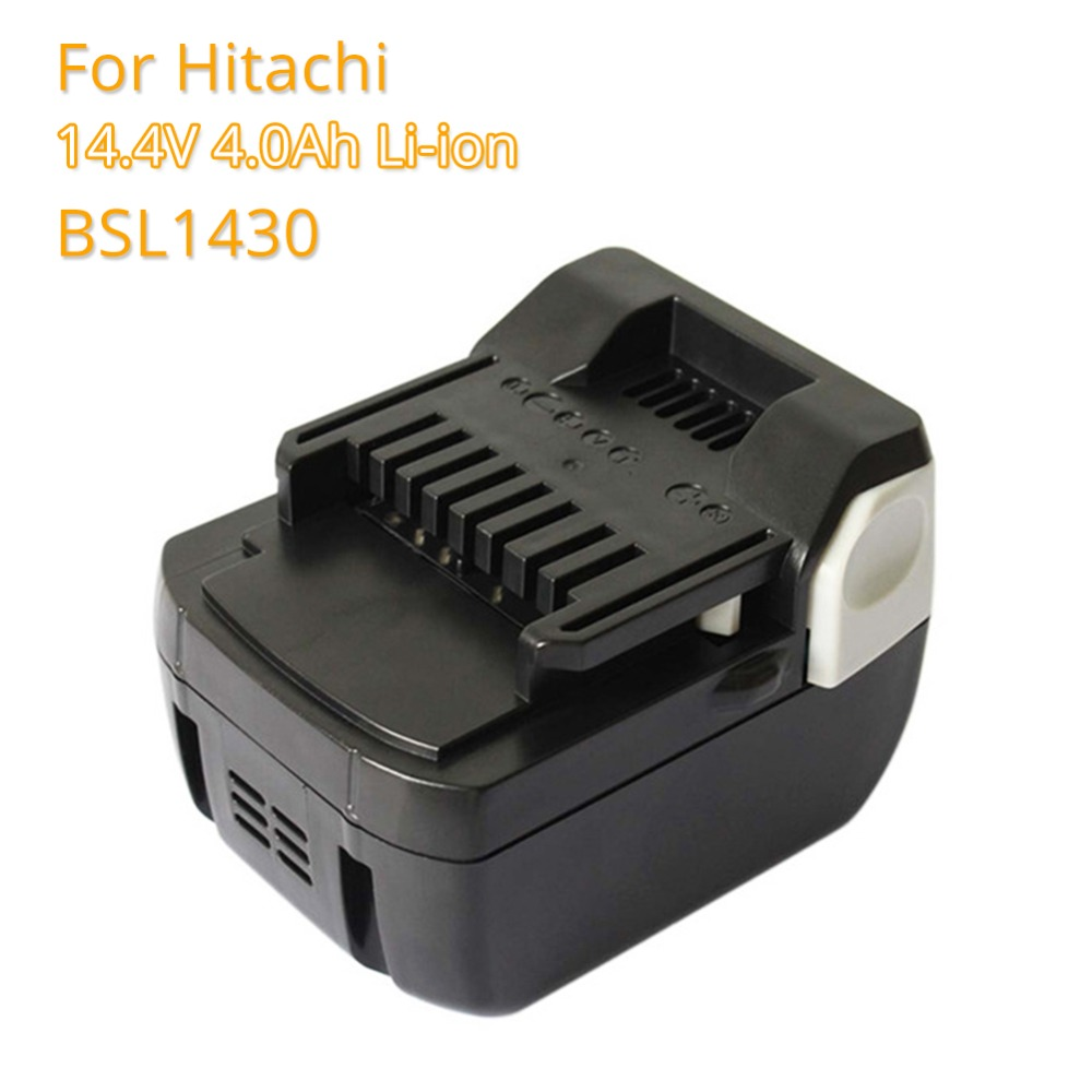 Replacement Battery BSL1430 4.0A 14.4V Li ion Rechargeable Batteria for Hitachi 14.4v BSL1415 C14DSL CD14DSL CJ14DSL Power Tools ac220 240v charger uc18yksl replace for hitachi 14 4v 18v li ion battery uc18yrsl bsl1415 bsl1420 bsl1440 bsl1450 uc18ygsl