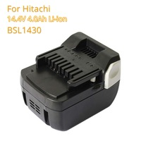 Replacement Battery BSL1430 4.0A 14.4V Li ion Rechargeable Batteria for Hitachi 14.4v BSL1415 C14DSL CD14DSL CJ14DSL Power Tools