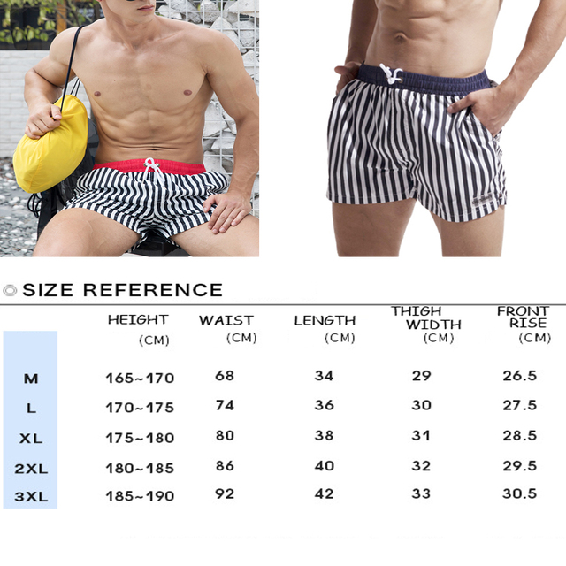 HIBUBBLE Mens Swimming Shorts Sexy Men's Swimming Trunks For Bathing Man Beachwear Swimwear Shorts Vertical Striped Gay Brief