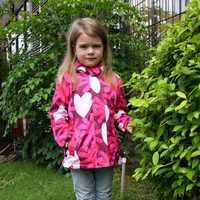 Abrigo cálido para niños, estampado floral para bebé, chaquetas impermeables para niñas, ropa de abrigo gruesa de lana Polar para Otoño e Invierno de 3 a 12 años