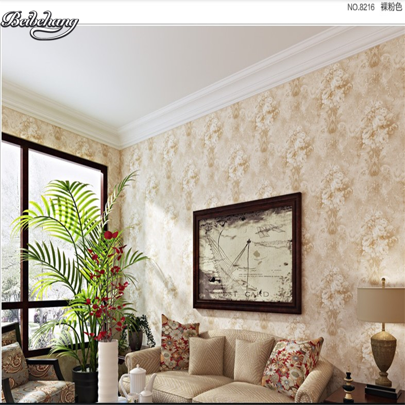 beibehang Large custom non - woven US rural pastoral retro large classical living room TV background bedroom wallpaper hyundai h hv01 15 u775